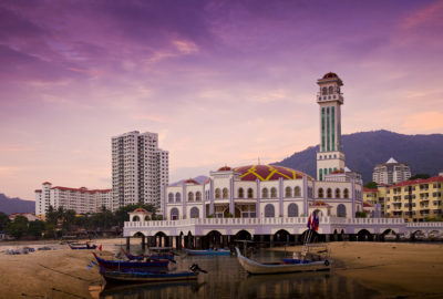 floating mosque, penang, malaysia